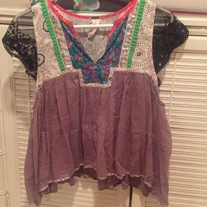Free People Printed Blouse. Size S